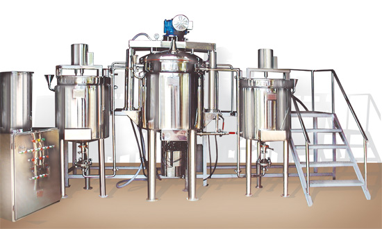 ointment manufacturing vessel, Cosmetic Cream Lotion Ointment Mixing Tanks And Manufacturing Plant
